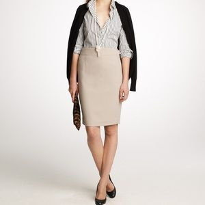 J. Crew Double Serge Wool Pencil Skirt